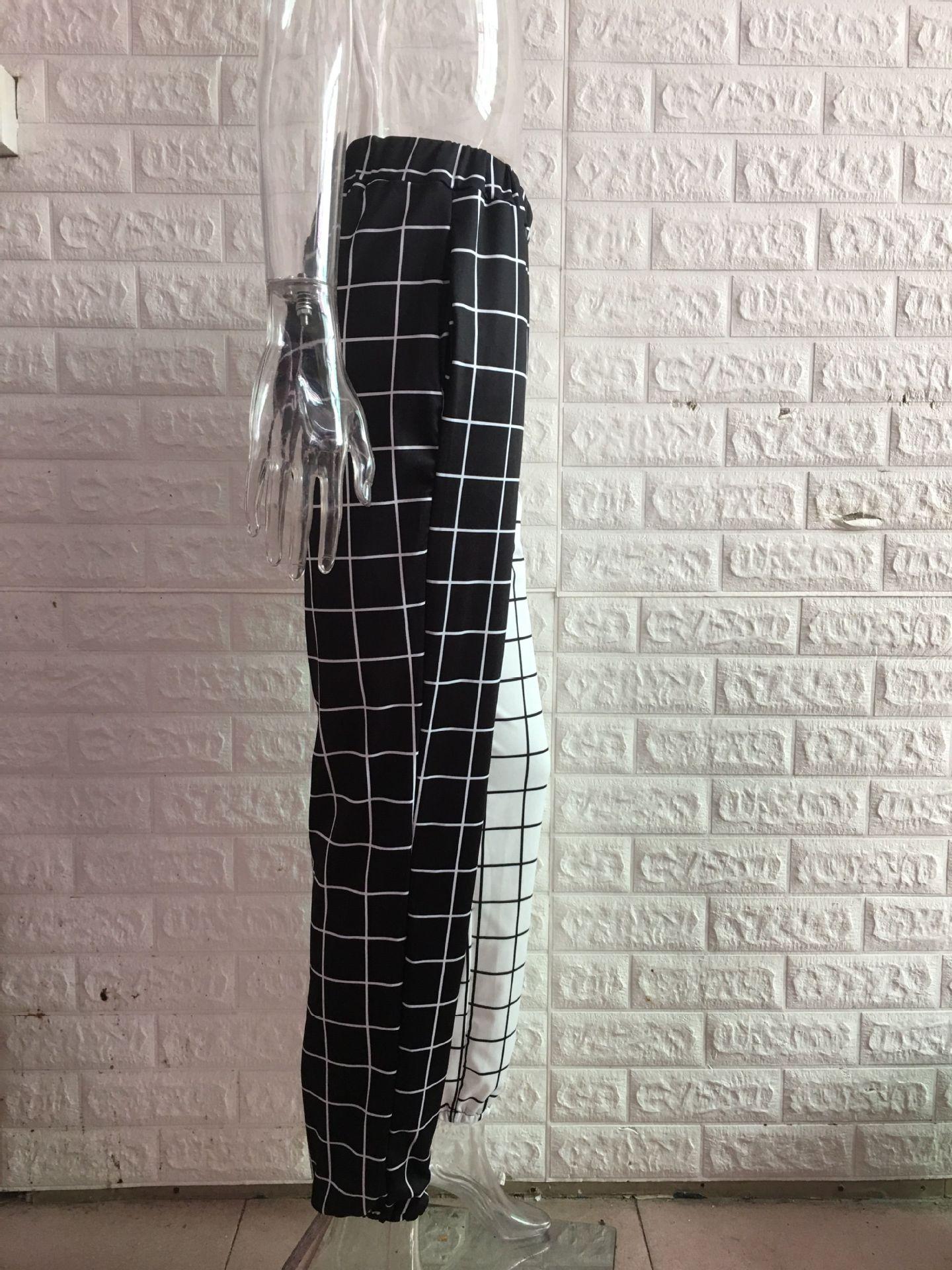 Black and White Checkerboard Trousers Punk E-girl 46