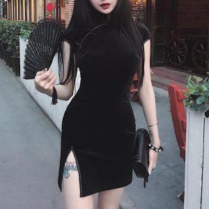 Gothic cheongsam dress 1