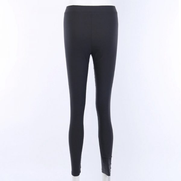 Black bodycon pants with Moon hollow out 6