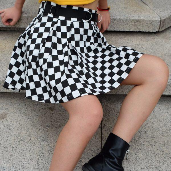 Checkered Harajuku Skirt  3