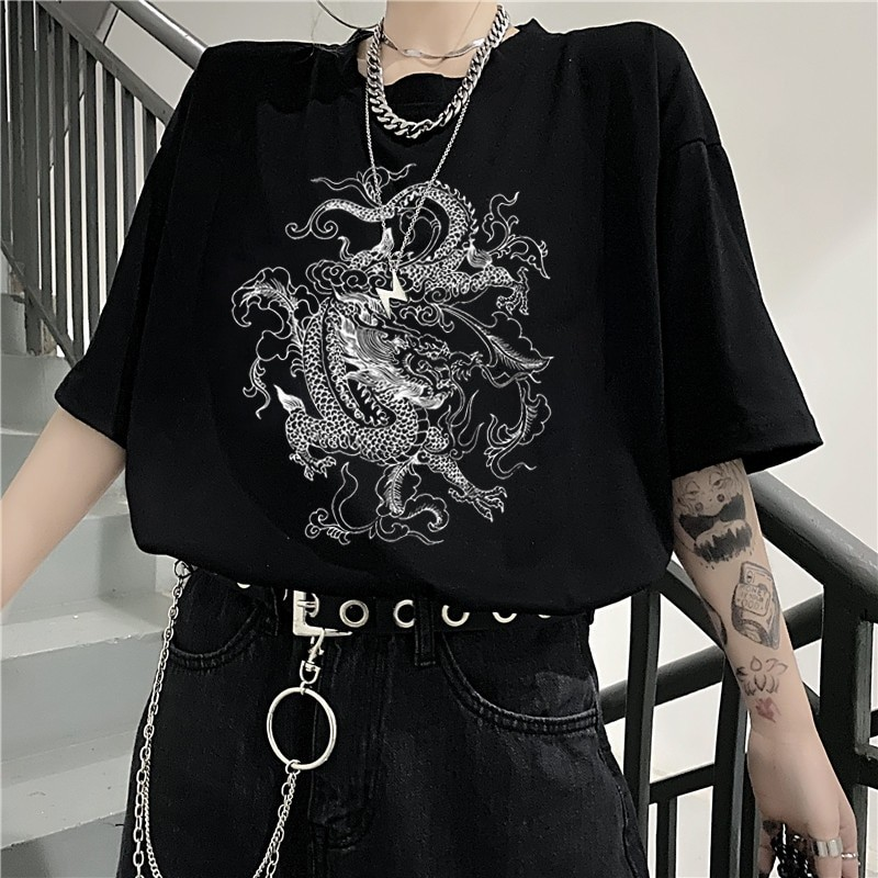 Dragon print T-shirt 42
