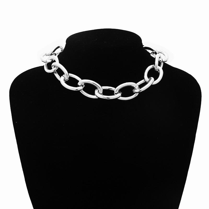 Pastel gothic E-girl Thick Massive Chain Choker 41