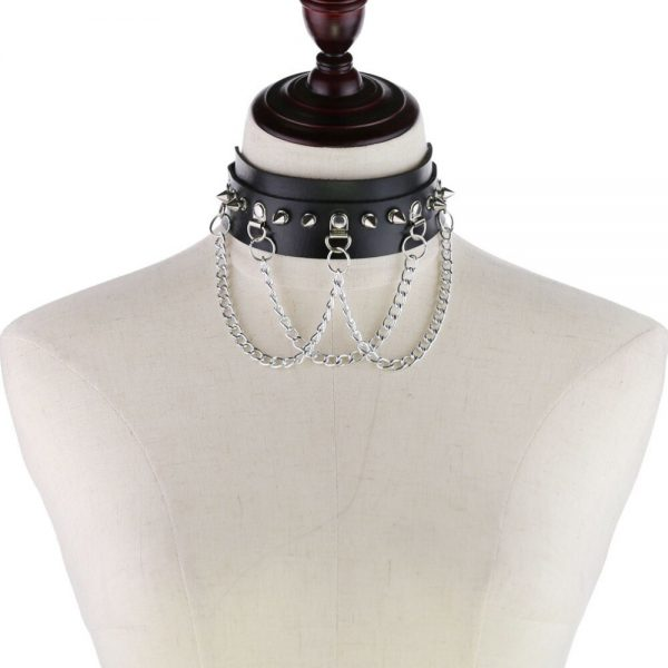 Choker With Spikes and Chains 5