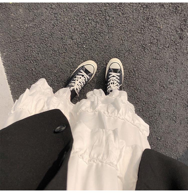 Asymmetrical Ruffle Maxi Skirt Punk Harajuku 52