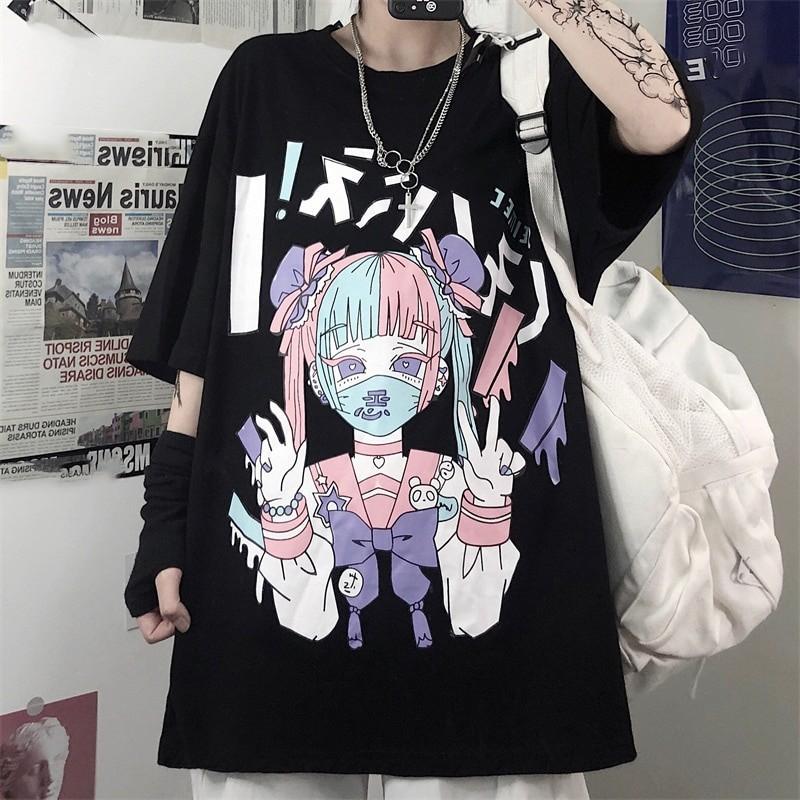Harajuku anime print T-Shirt 41