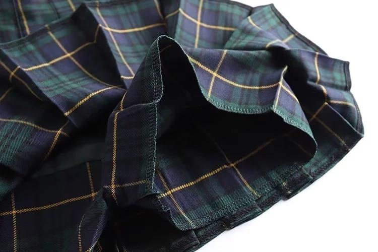 Harajuku E-girl Tartan Women Skirt 50
