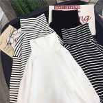 Striped Turtleneck T-shirts 4