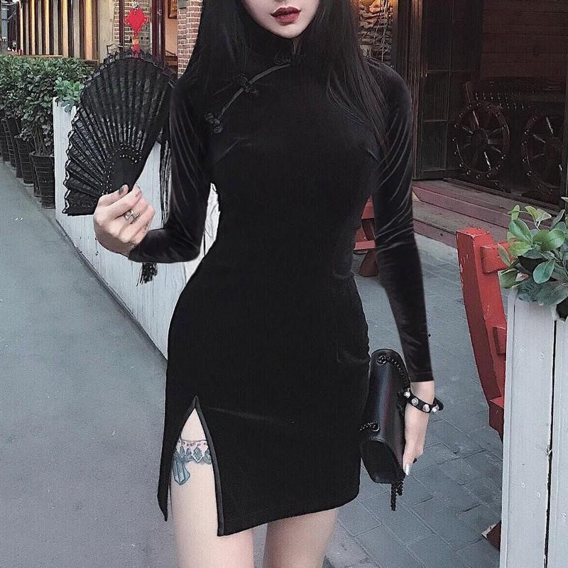 Pastel gothic E-girl cheongsam dress 52