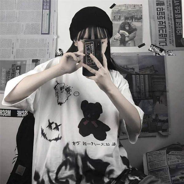 Harajuku streetwear loose T-Shirt 5