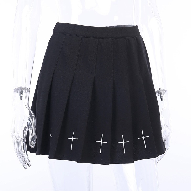Gothic Mini Skirts with cross E-girl Pastel gothic 44