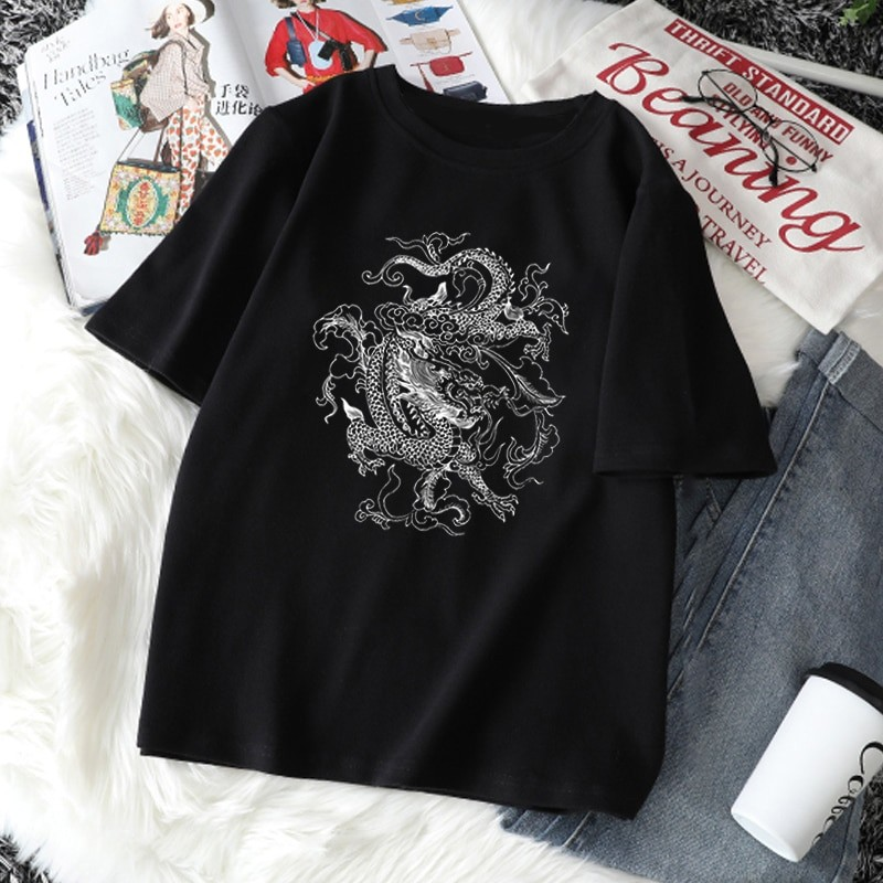 Dragon print T-shirt 41