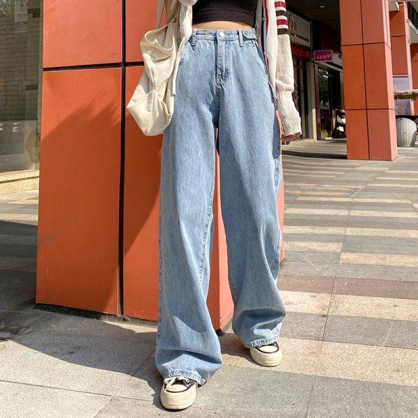 High Waist Harajuku Straight Jeans 1
