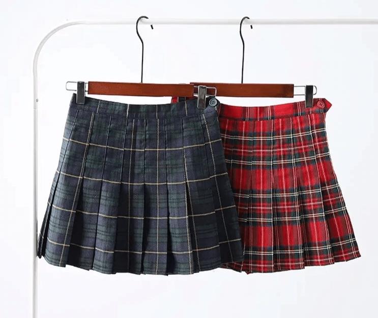 Harajuku E-girl Tartan Women Skirt 52