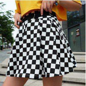 Checkered Harajuku Skirt  2