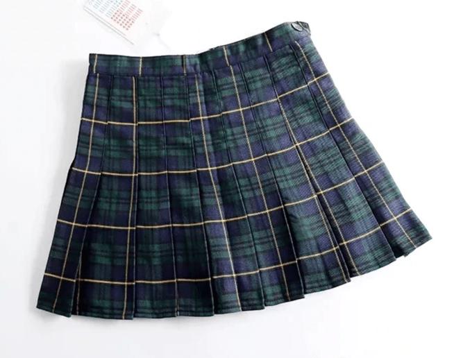 Harajuku E-girl Tartan Women Skirt 44