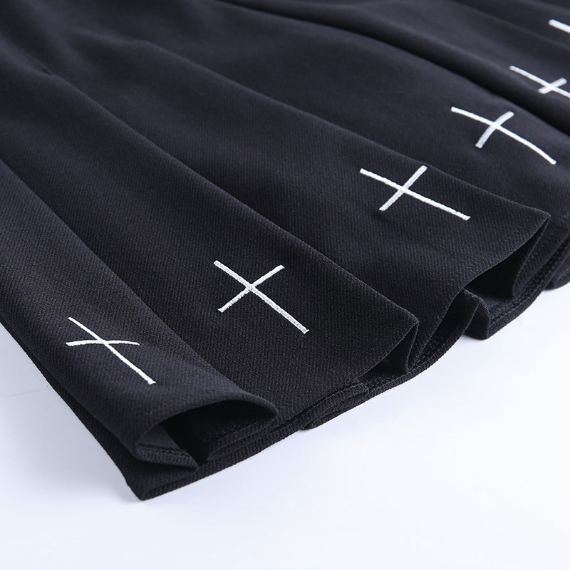 Gothic Mini Skirts with cross E-girl Pastel gothic 47