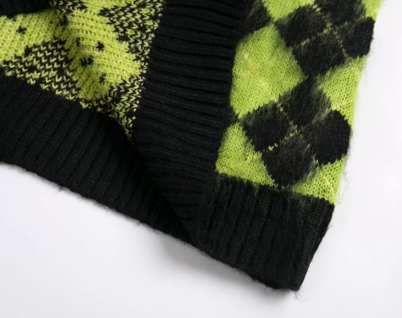 Punk Vintage knitted oversized cardigan 47