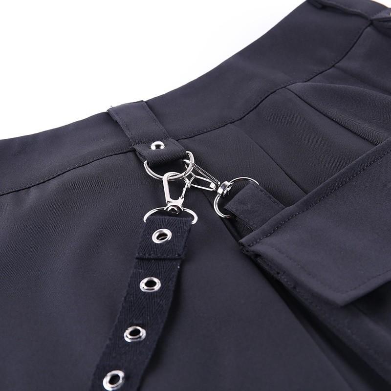 Black Skirts with Bandage Pastel gothic E-girl 47