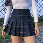 Harajuku Tartan Women Skirt 1
