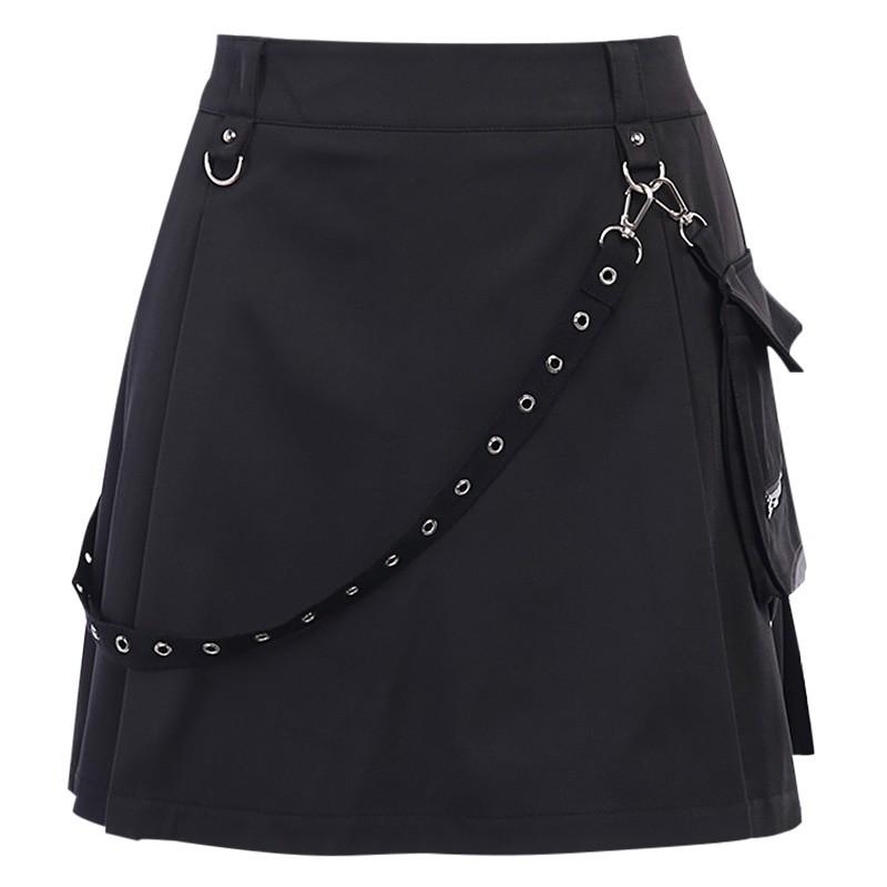 Black Skirts with Bandage Pastel gothic E-girl 52