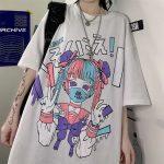 Harajuku anime print T-Shirt 10