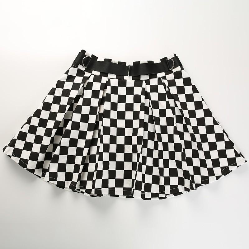 Checkered Harajuku Skirt E-girl 45