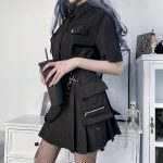 Black Skirts with Bandage  3