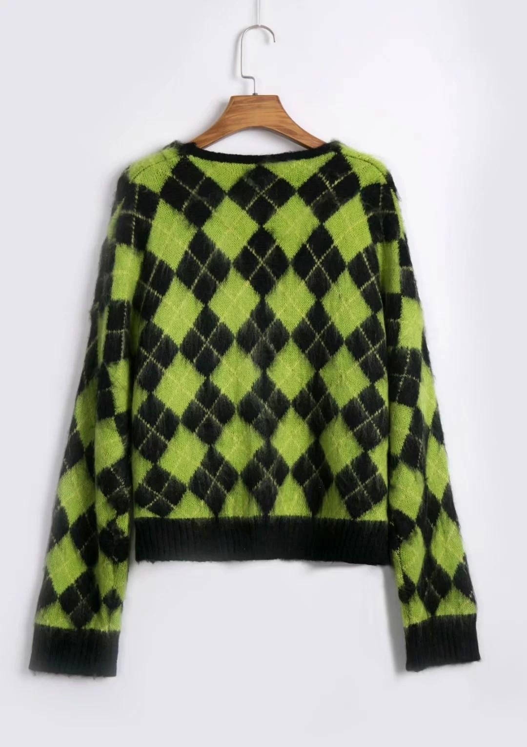 Punk Vintage knitted oversized cardigan 42