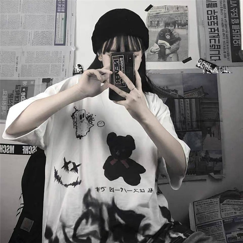 E-boy E-girl Harajuku streetwear loose T-Shirt 41
