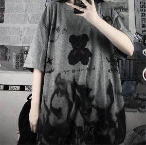 E-boy E-girl Harajuku streetwear loose T-Shirt 42