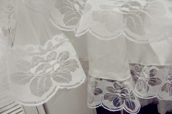 White/Black Lace Petticoat/Tutu Skirt 5