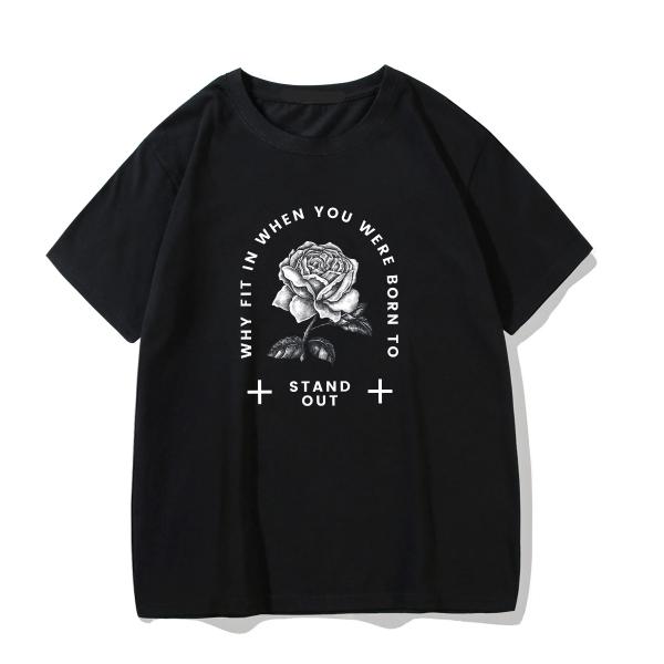 Gothic rose print T-shirt 3