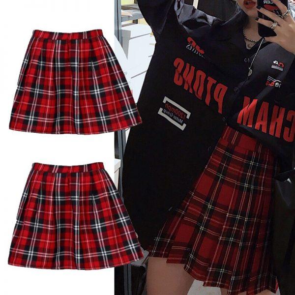 School Uniform Plaid Skirt 5