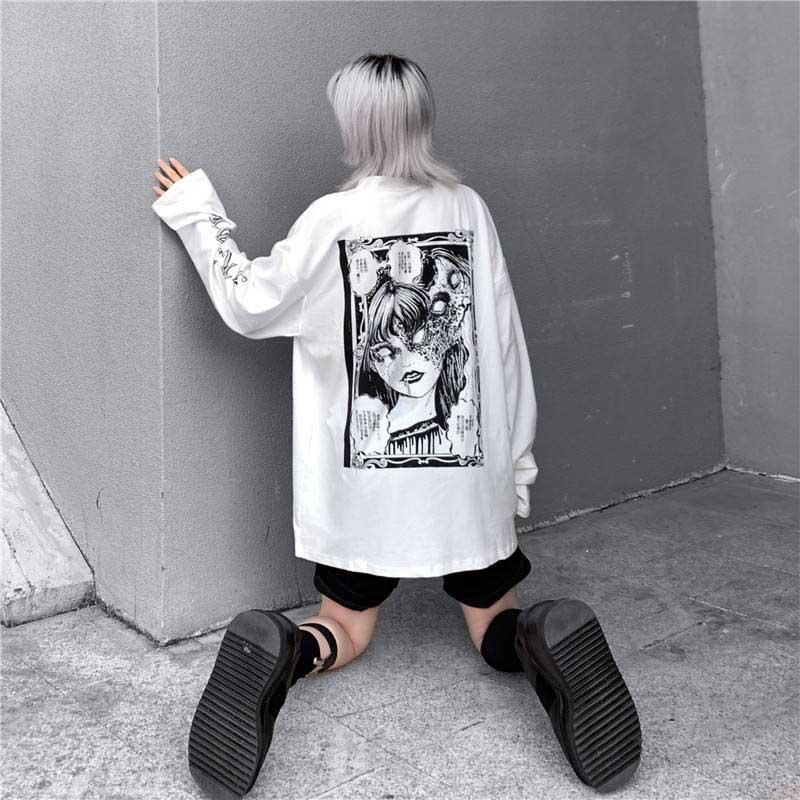 Cartoon Horror Graphic T-shirt E-girl 47