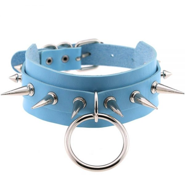 Chokers with ring ang spikes 4