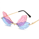Rimless Dragonfly Wing Sunglasses