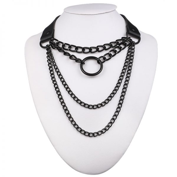 Multilayer lock chain necklace 5