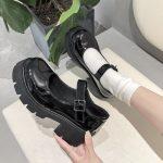 Lolita Vintage Shoes with High Heel Platform 12