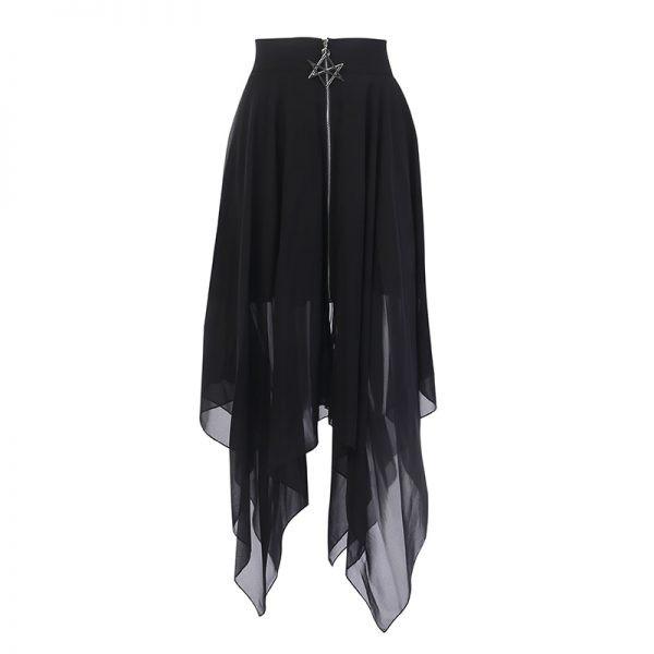 Loose Asymmetric Skirt with zipper 16