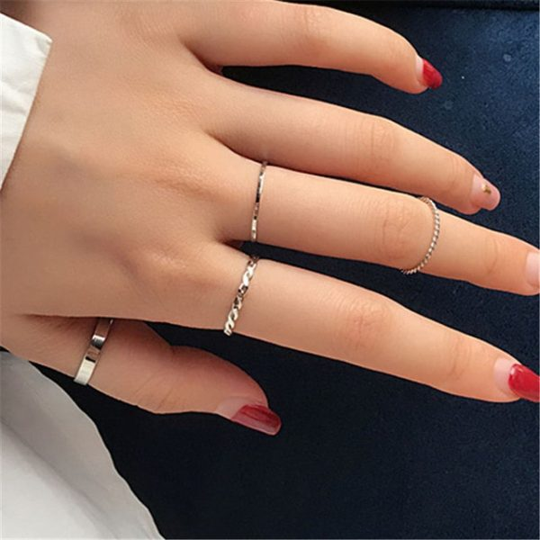Resizable Rings set for fingers 16