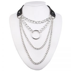 Multilayer lock chain necklace 22