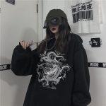 Dragon Element Print Harajuku hoodie 18