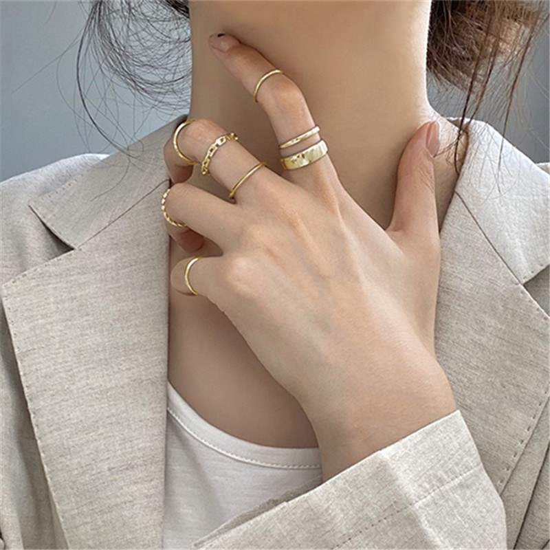 Resizable Rings set for fingers 56