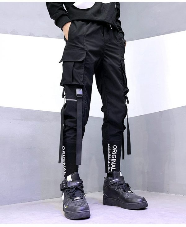Streetwear Joggers  with Ribbons Pockets 13