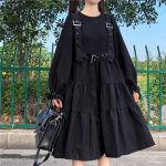 Harajuku Black Midi Dress 13