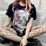 Gothic T-shirts with Cartoon print 5