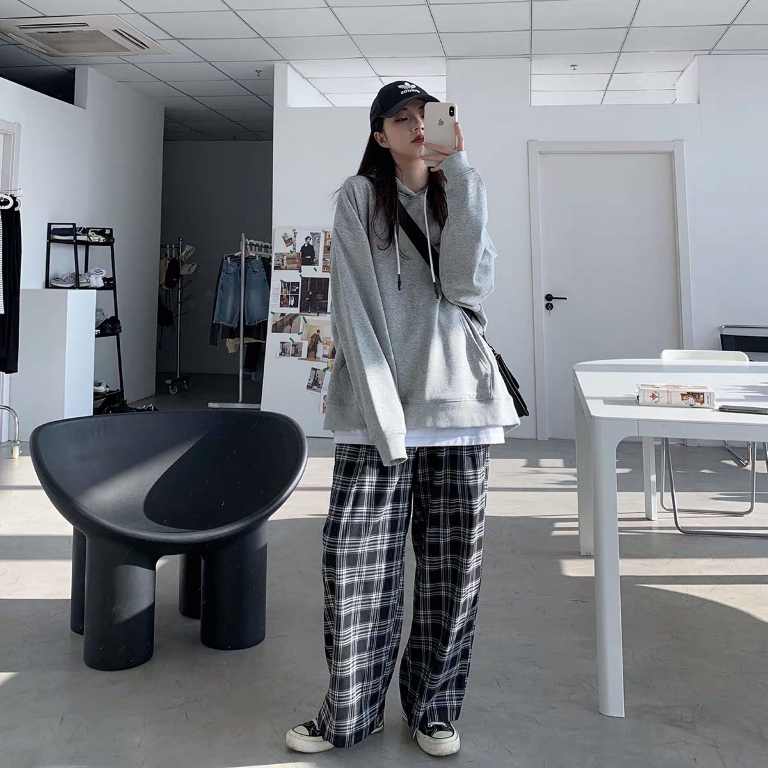 Plaid Oversize Pants E-boy E-girl 48