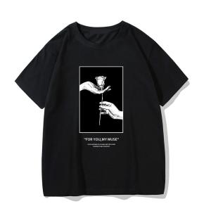 Gothic rose print T-shirt 7