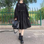 Harajuku Black Midi Dress 11