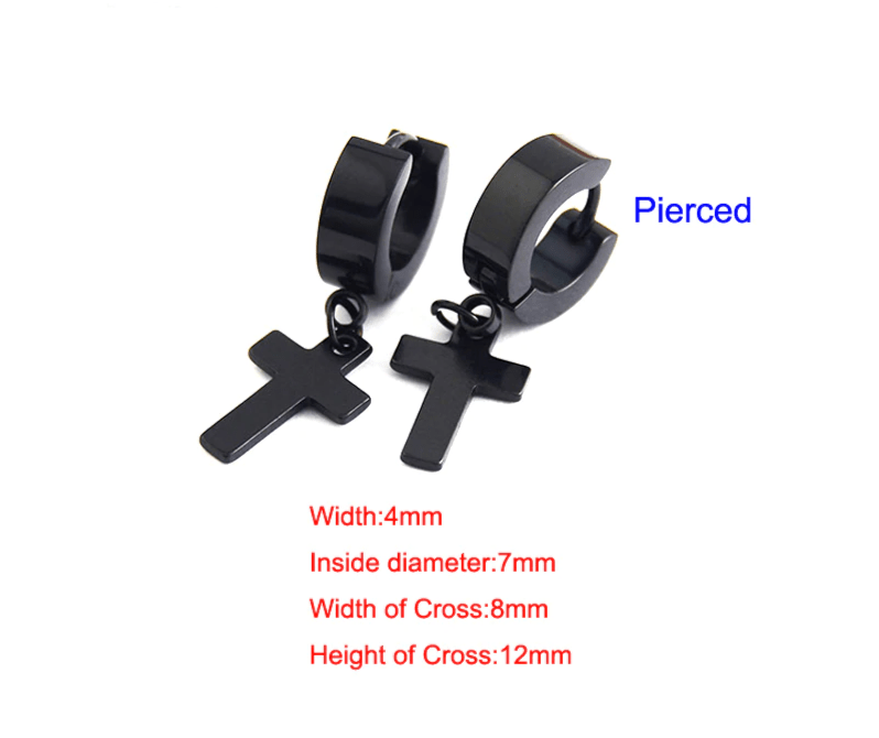 Earrings with Cross pendant 14